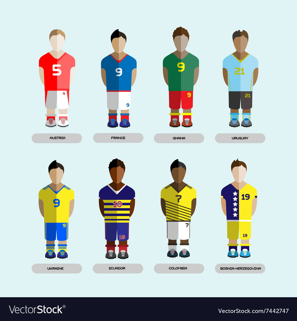 Soccer Club Team Players Set Royalty Free Vector Image 1ae5343b9