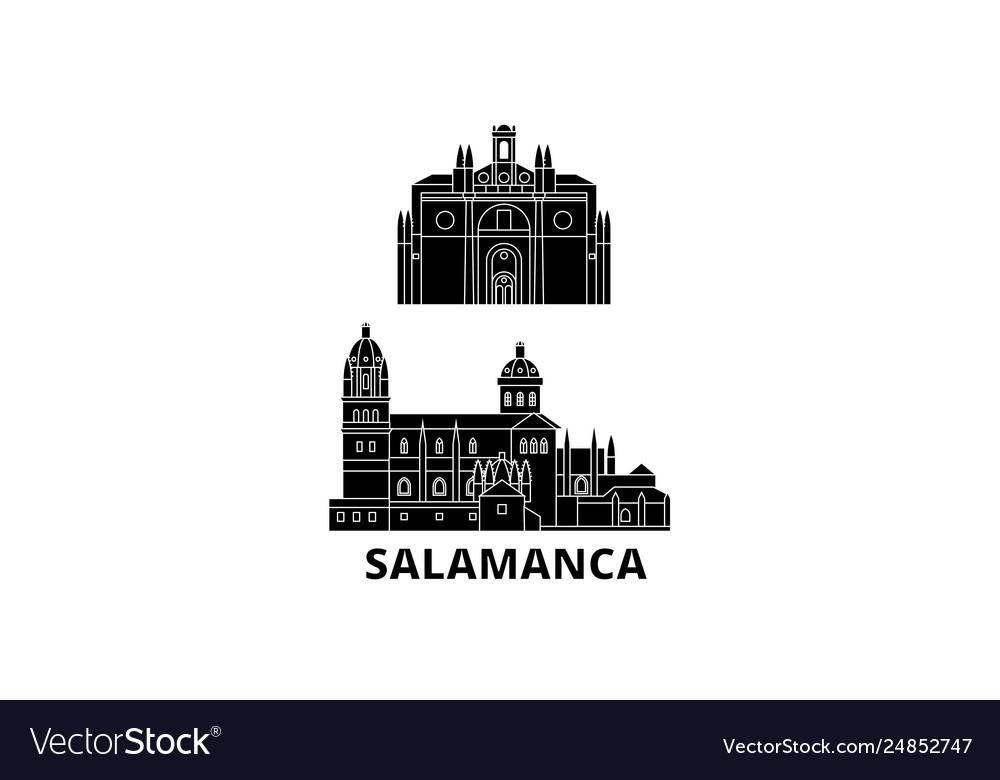 Spain salamanca flat travel skyline set spain