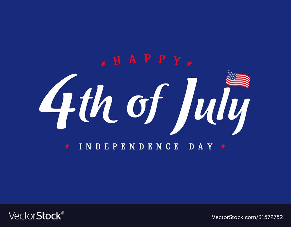 4th july independence day vintage banner blue