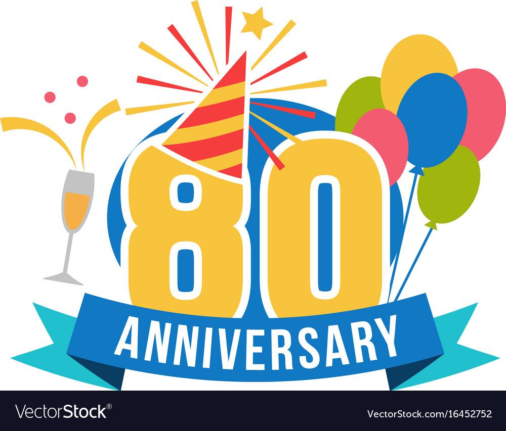 Anniversary eighty years number