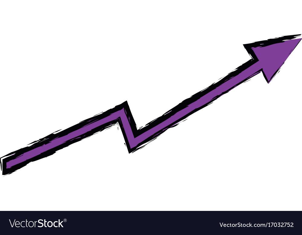 Arrow growing upward business financial concept