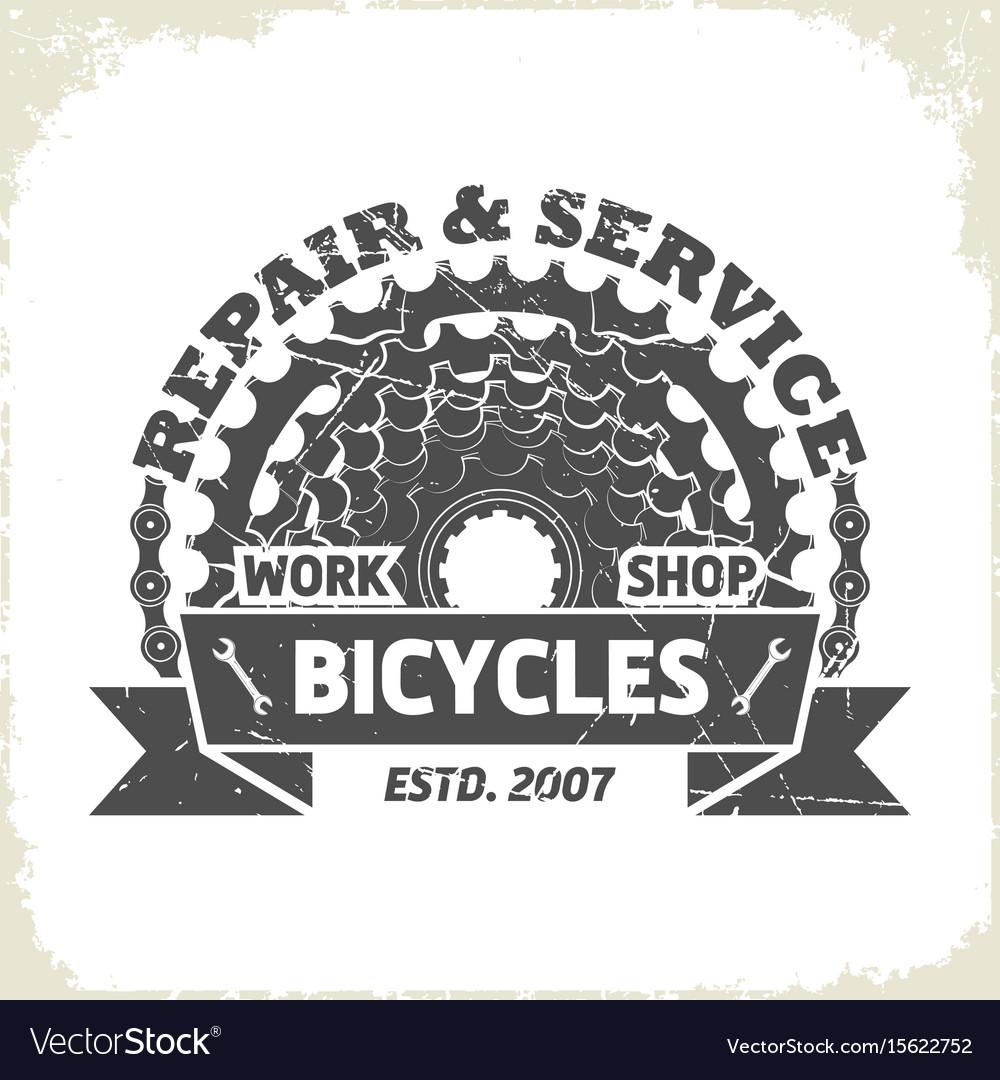 Bicycle monochrome sprocket logo