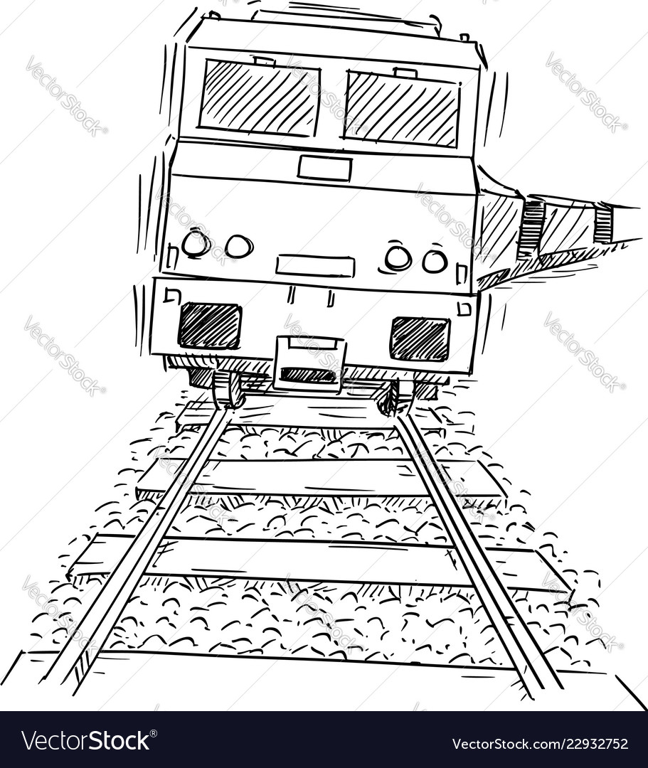 Drawing of generic train engine locomotive on the