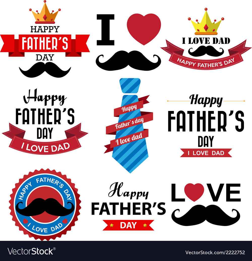 Happy fathers day vintage retro type font eps10