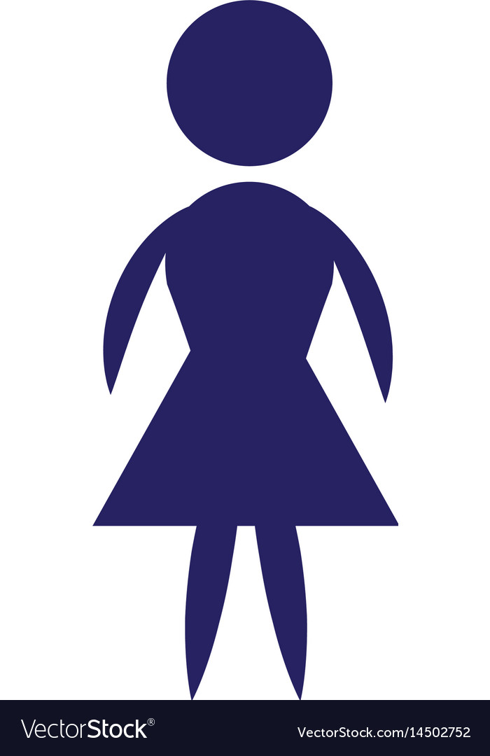 Icon pictogram woman female vector image