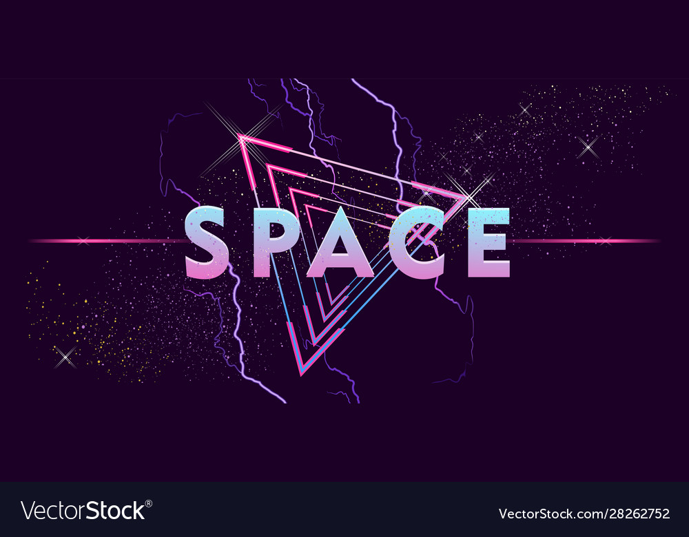 Retro Wave Outer Space Vaporwave Royalty Free Vector Image