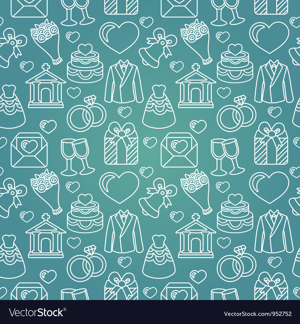 Seamless pattern with wedding icon