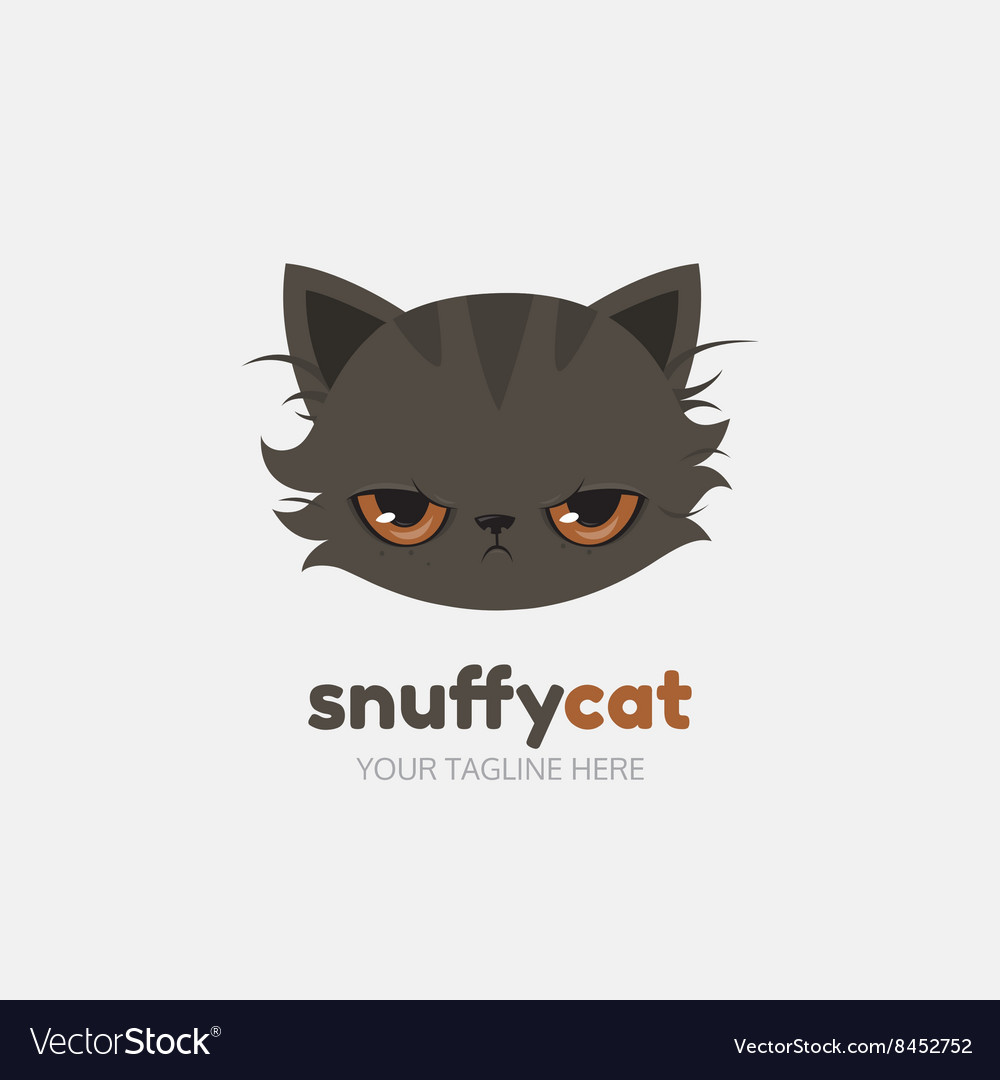 Snuffy cat logo template