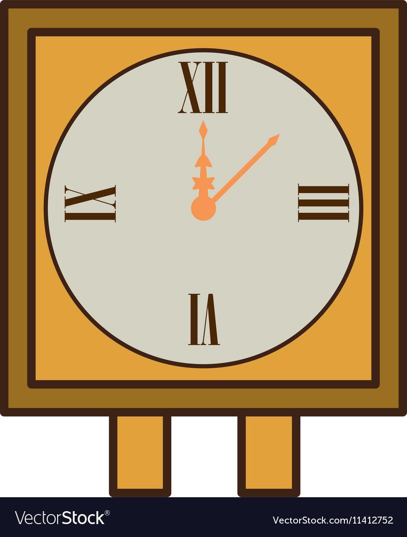 Wall clock retro isolated icon
