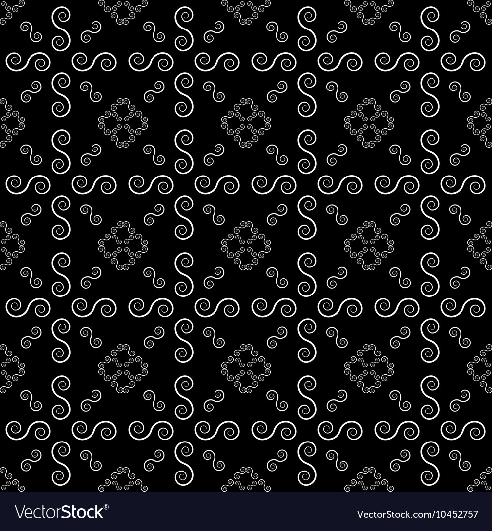 Abstract Line Spiral Background Seamless Pattern