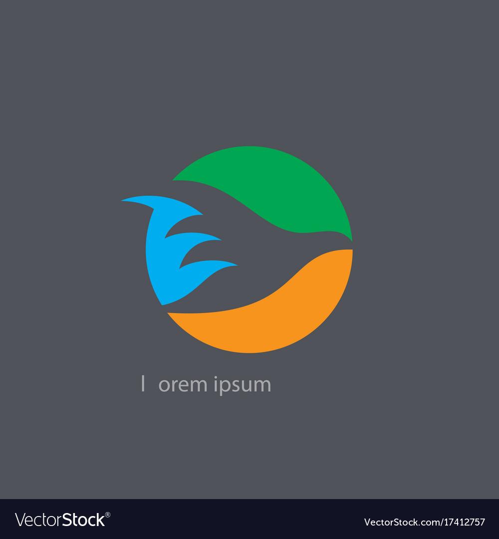Circle bird silhouette logo