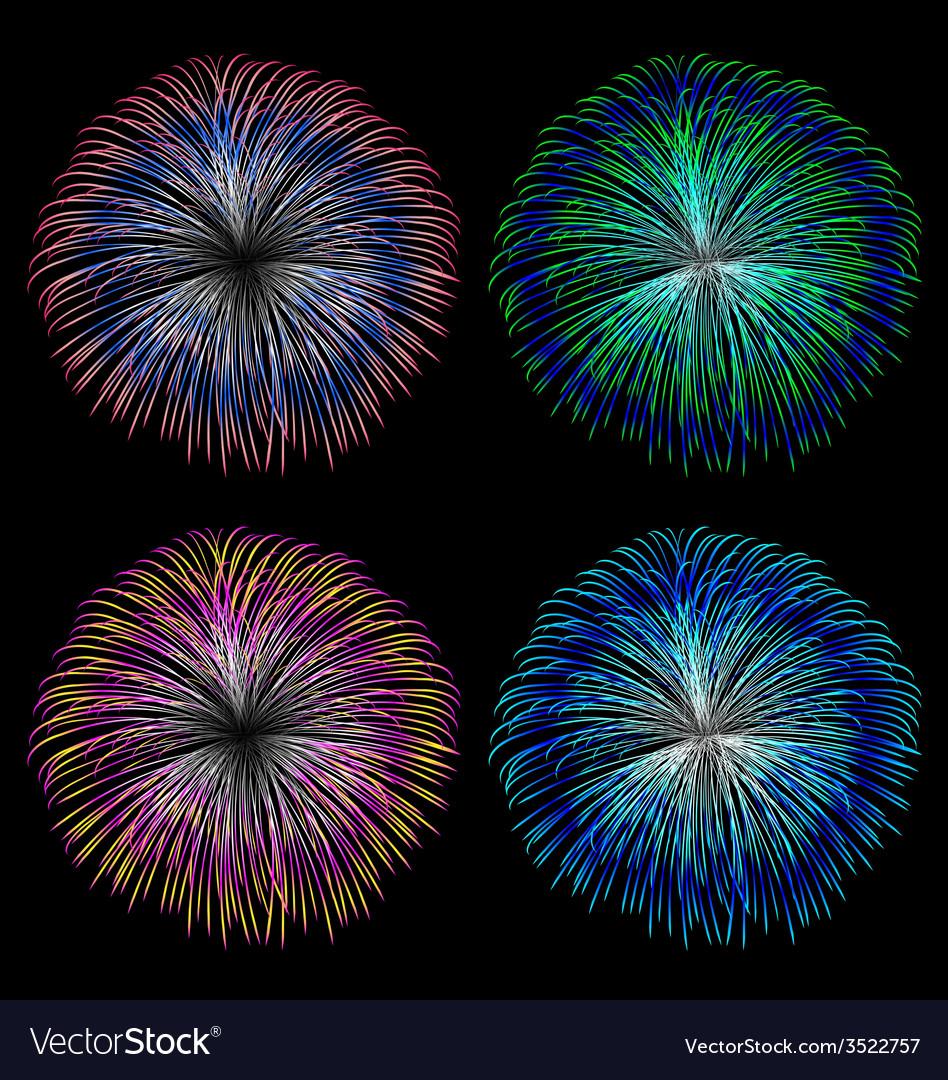 Colorful fireworks set