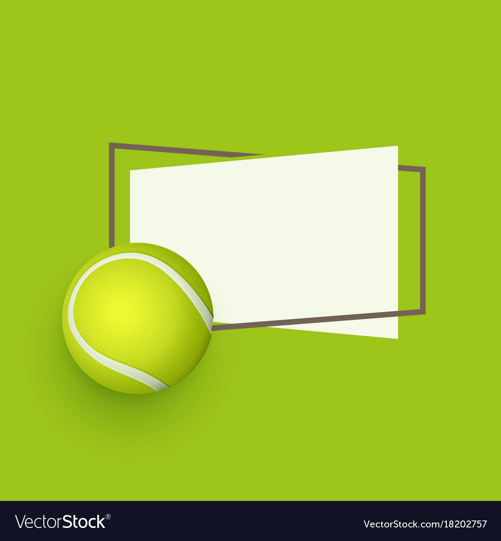 Flat Cartoon Tennis Ball Banner Royalty Free Vector Image