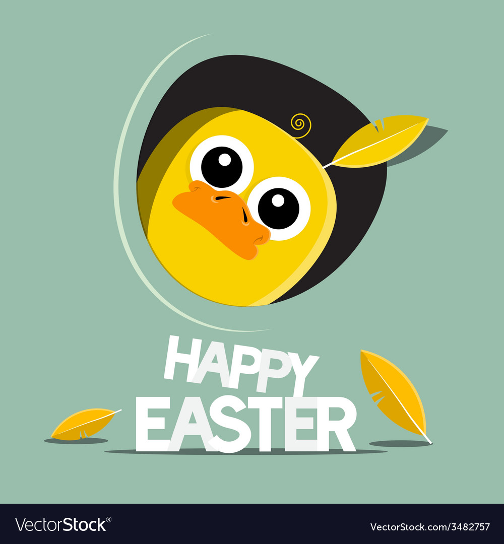 Happy Easter Funny Chicken