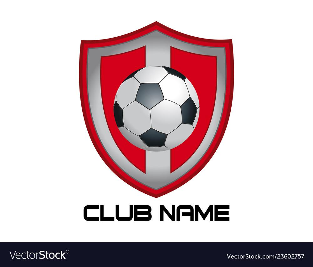 Red football emblem