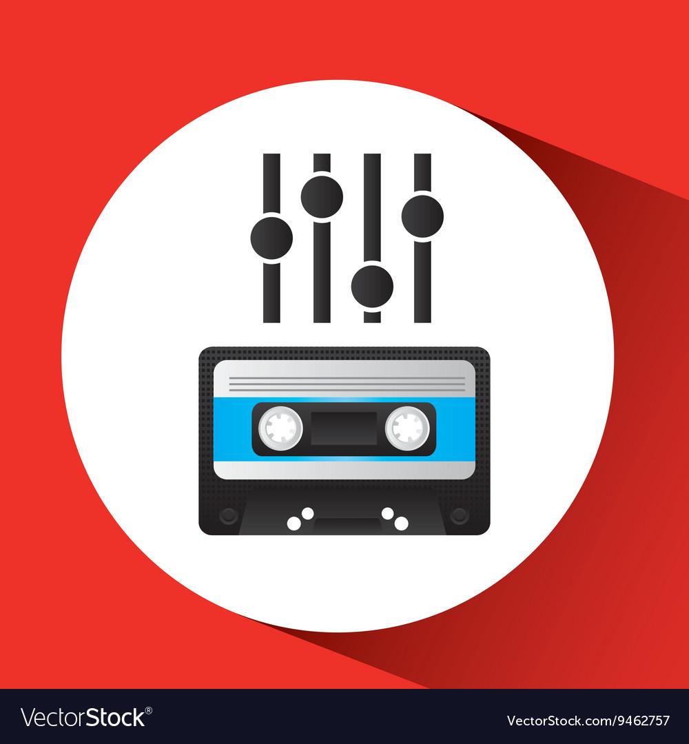 Retro music design vector image