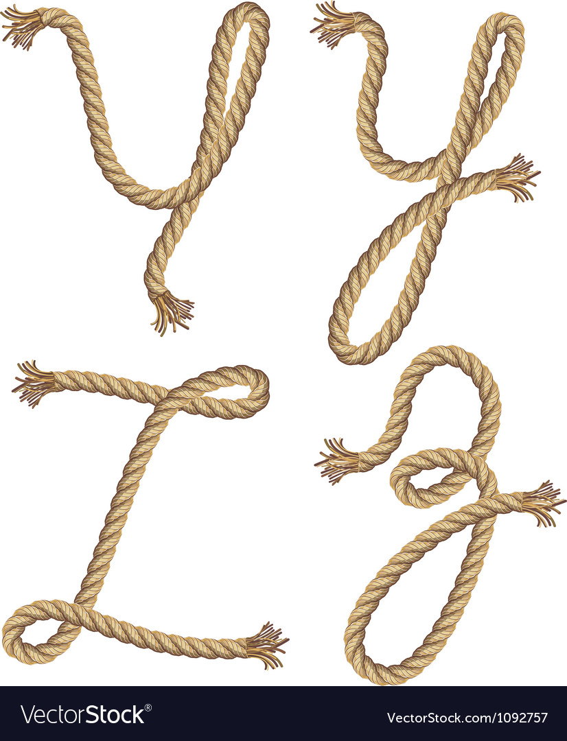 Rope alphabet font style