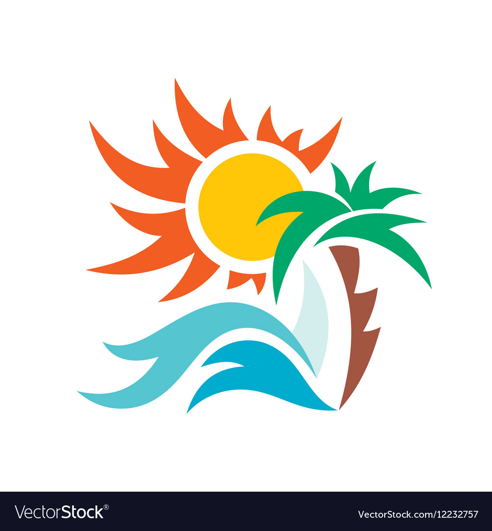 Summer travel vacation logo