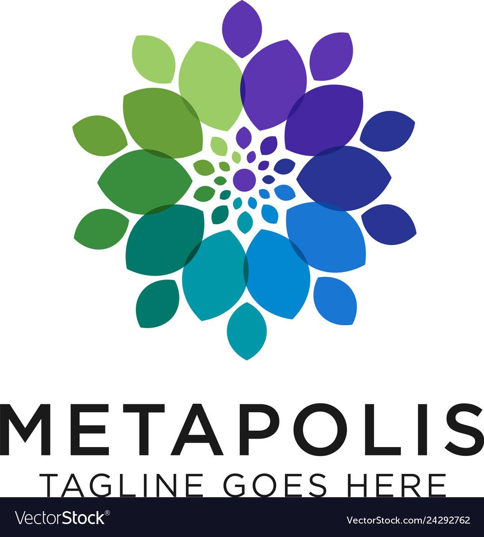Flower logo concept creative minimal design