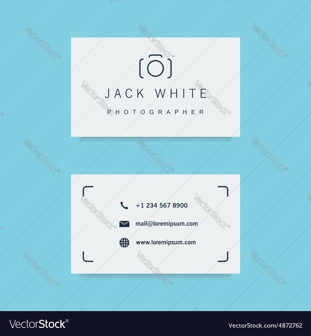Photographer business card template royalty free vector photographer business card template vector image colourmoves