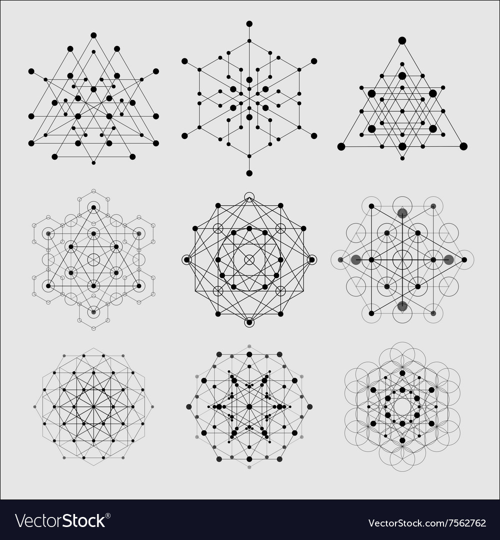 sacred geometry design elements alchemy royalty free vector