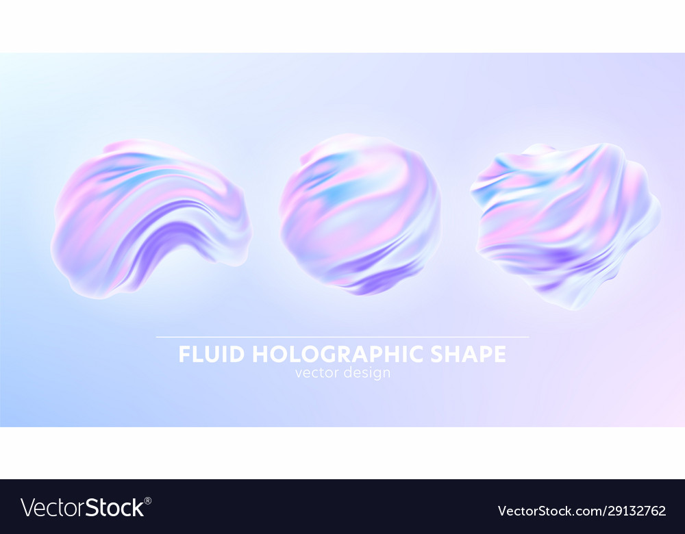 Set trendy realistic pattern with holographic