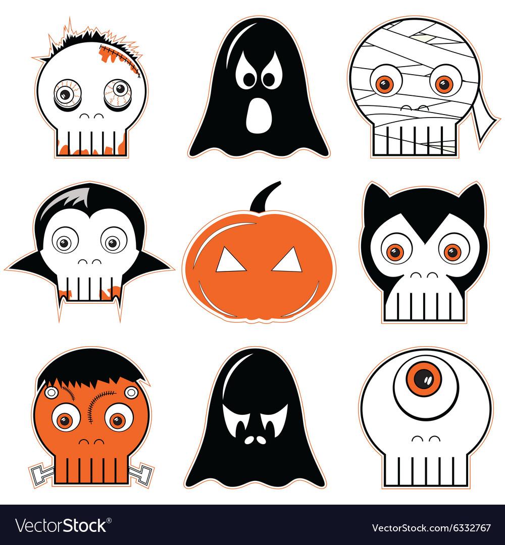 3 Halloween icon set