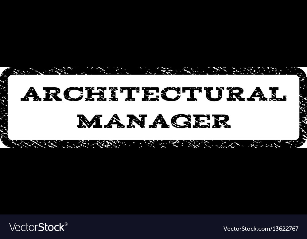 architectural manager watermark stamp royalty free vector
