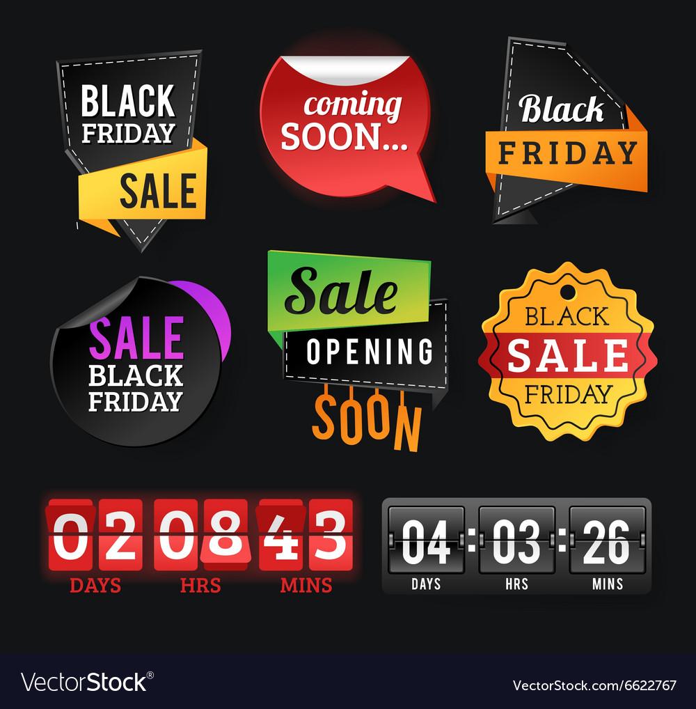 friday sale badges black