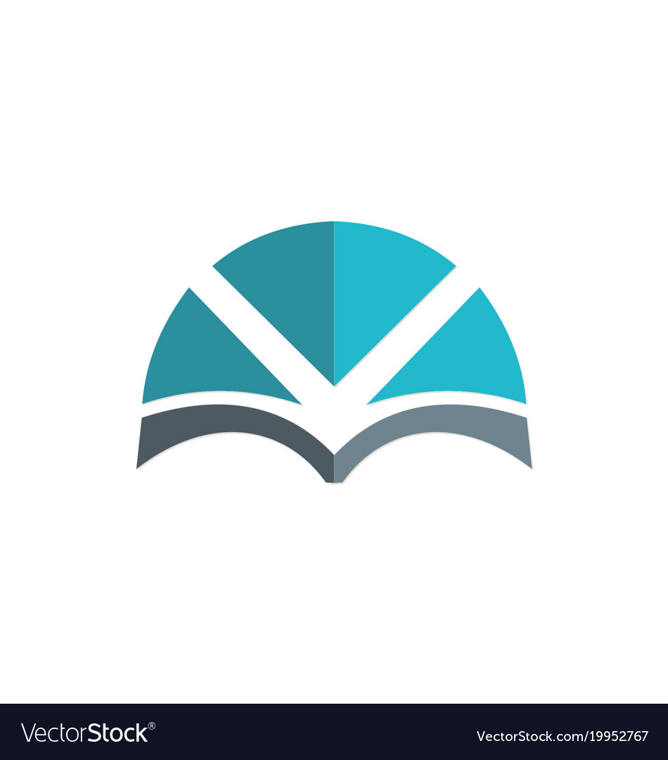 Book abstract knowledge logo