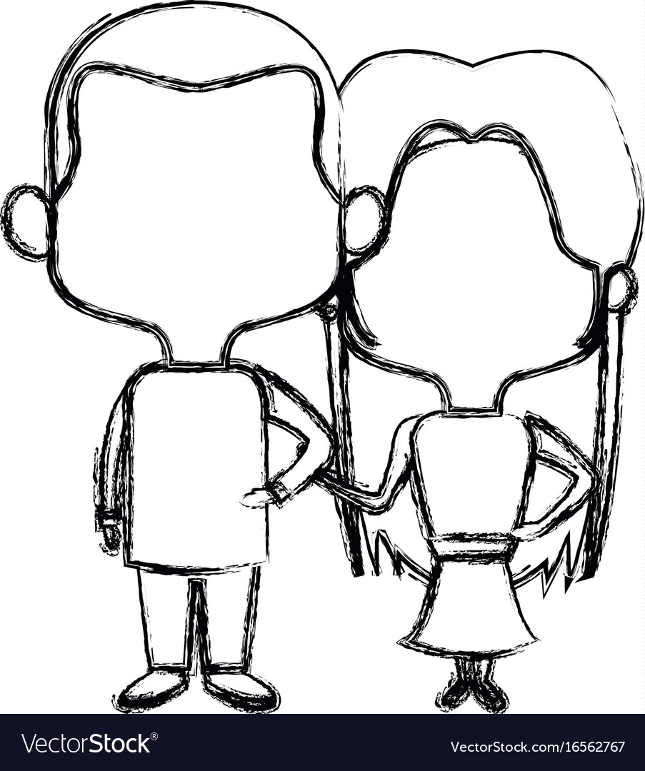 Cute Couple Bride And Groom Holding Hands Lovely Vector Image