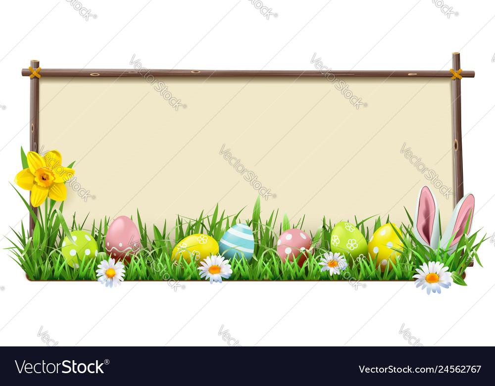 Easter wooden frame