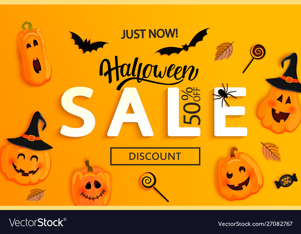 Halloween just now sale banner