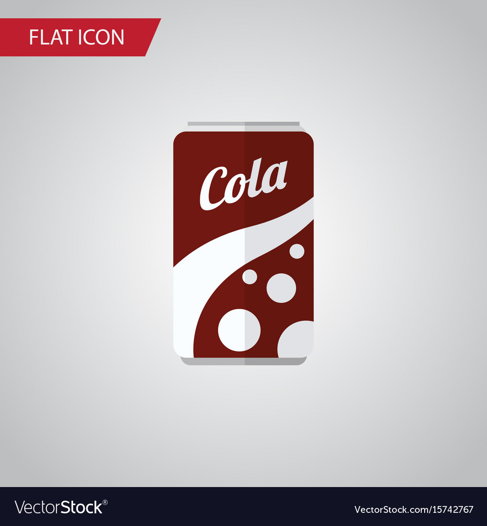 Isolated cola flat icon fizzy drink
