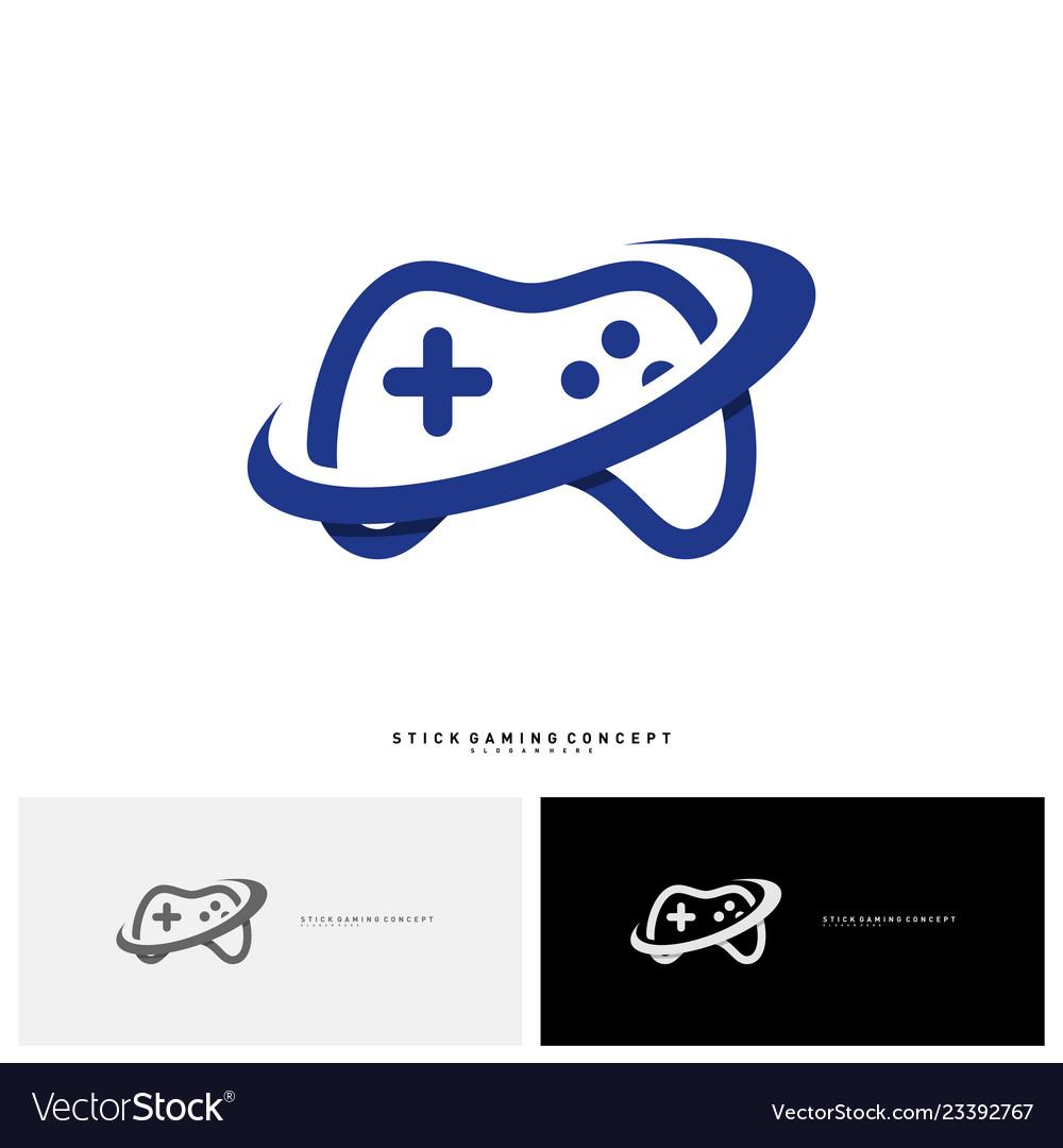 Joystick game logo concept template design game