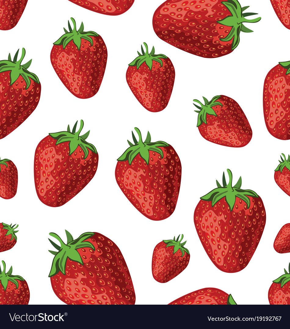 Seamless background of strawberries