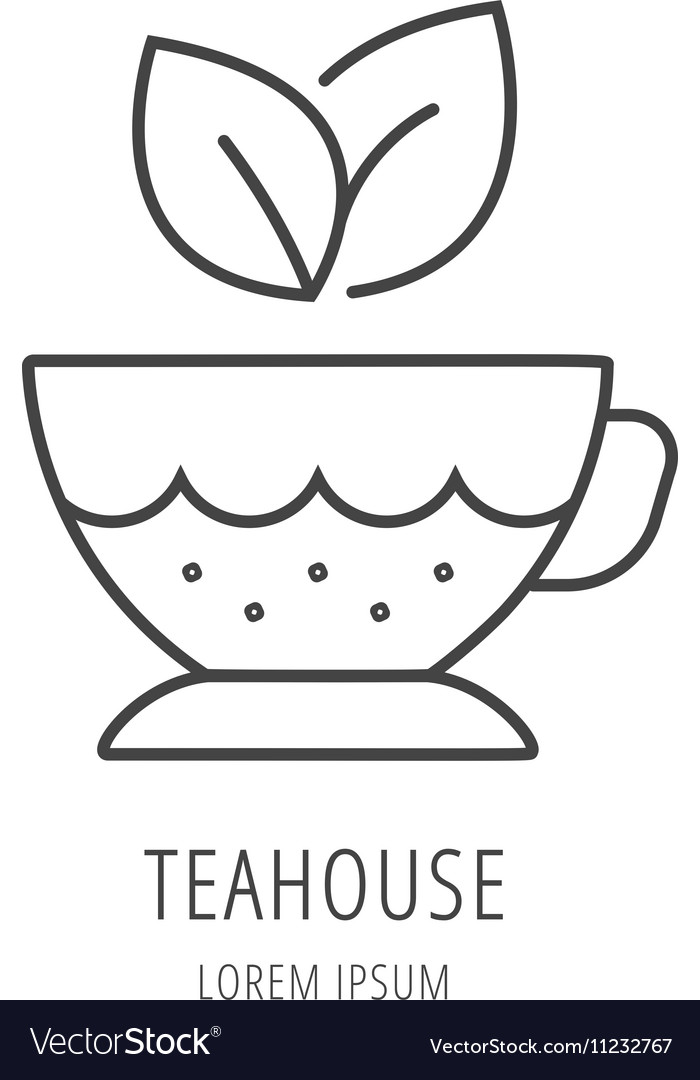 Simple Logo Template Tea cup Royalty Free Vector Image