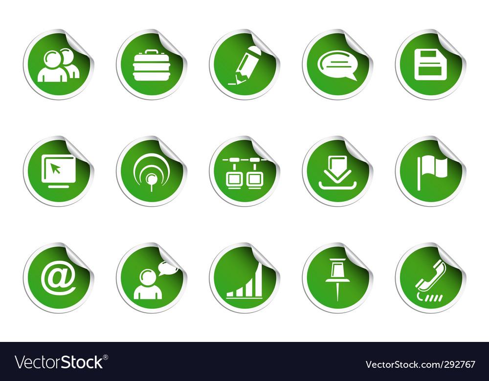 Web icons sticky series
