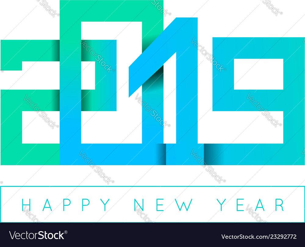 2019 happy new year congratulation origami paper