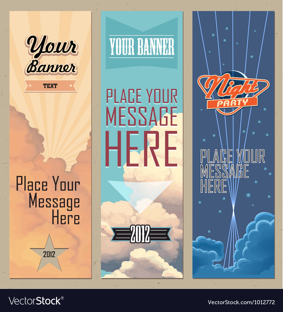 Banners vertical
