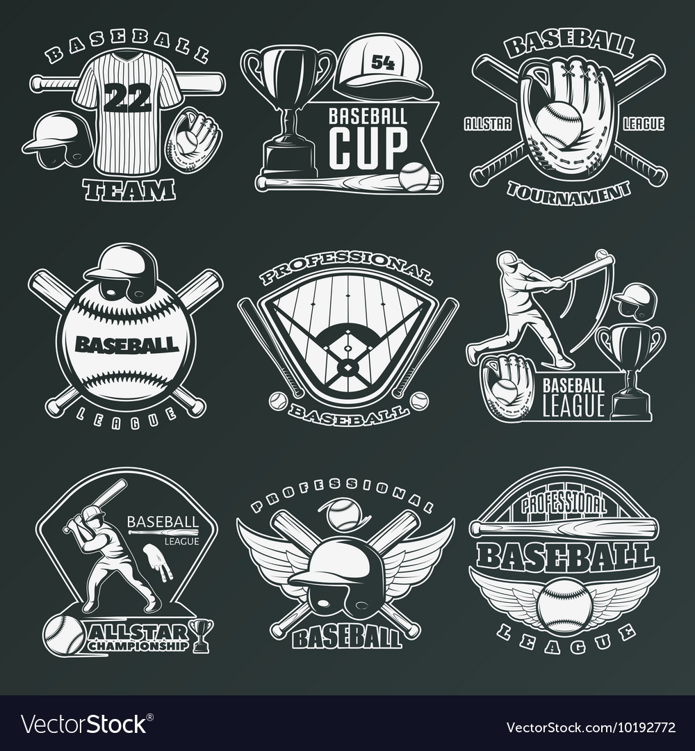 Baseball Monochrome Emblems