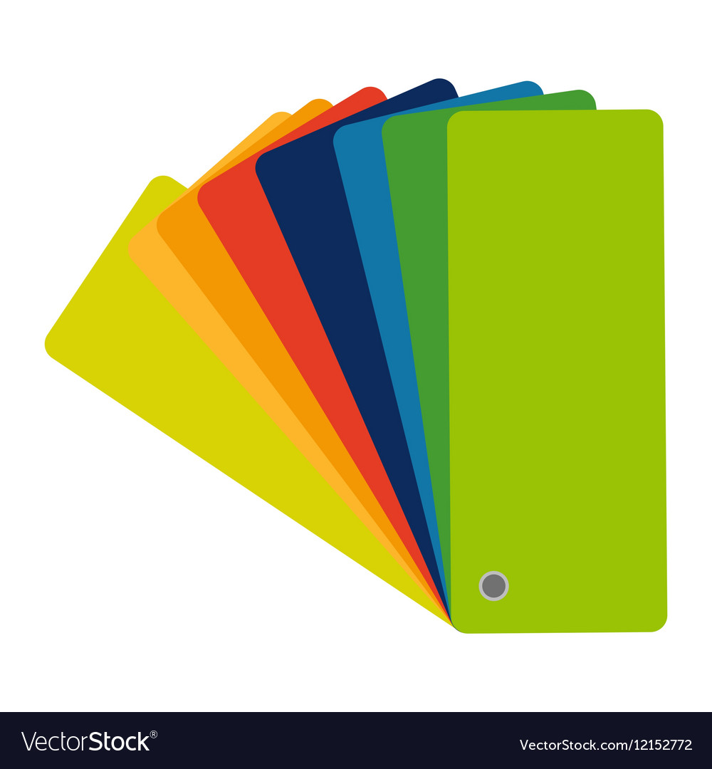 Color swatch guide colorful icon flat vector image