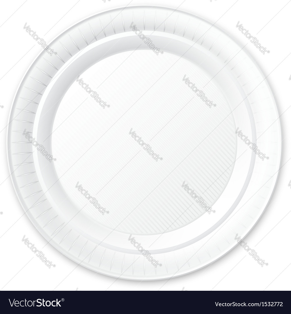 sc 1 st  VectorStock & Disposable Plastic Plate Isolated on White Vector Image