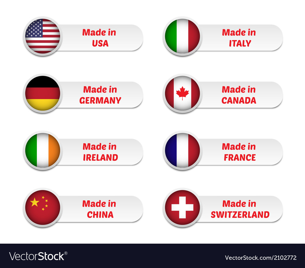 Made in labels vector image