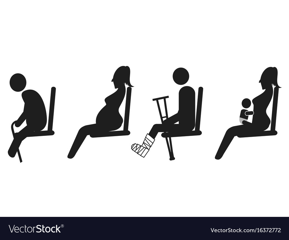 Priority seat sign vector image