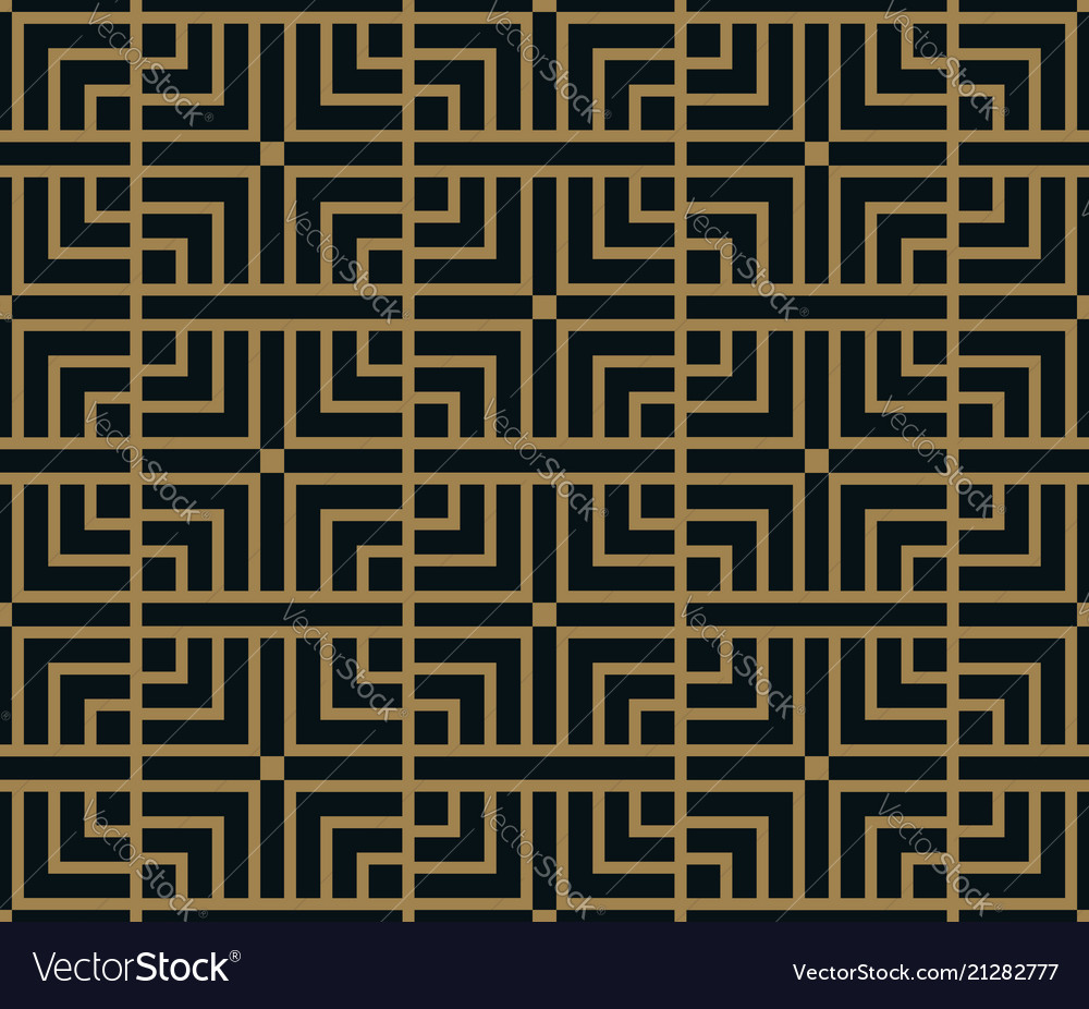 Abstract square geometric pattern with lines