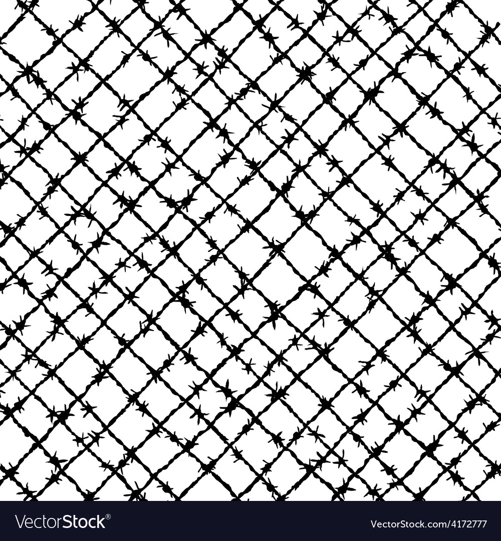 Barbed wire woven Royalty Free Vector Image - VectorStock