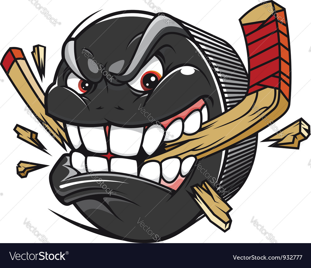 Cartoon hockey puck vector image