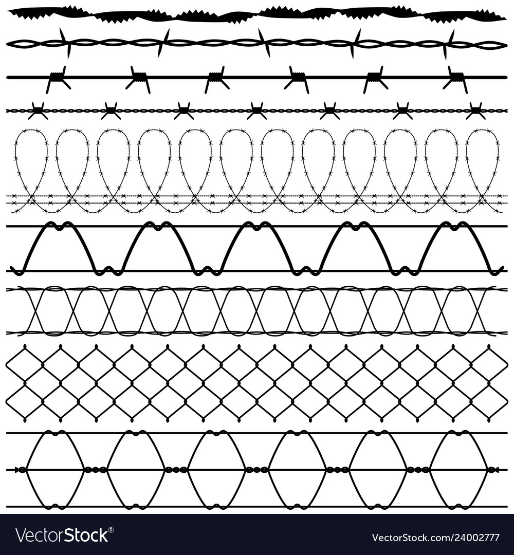 Fence barbed wire barbwire a set of fences design