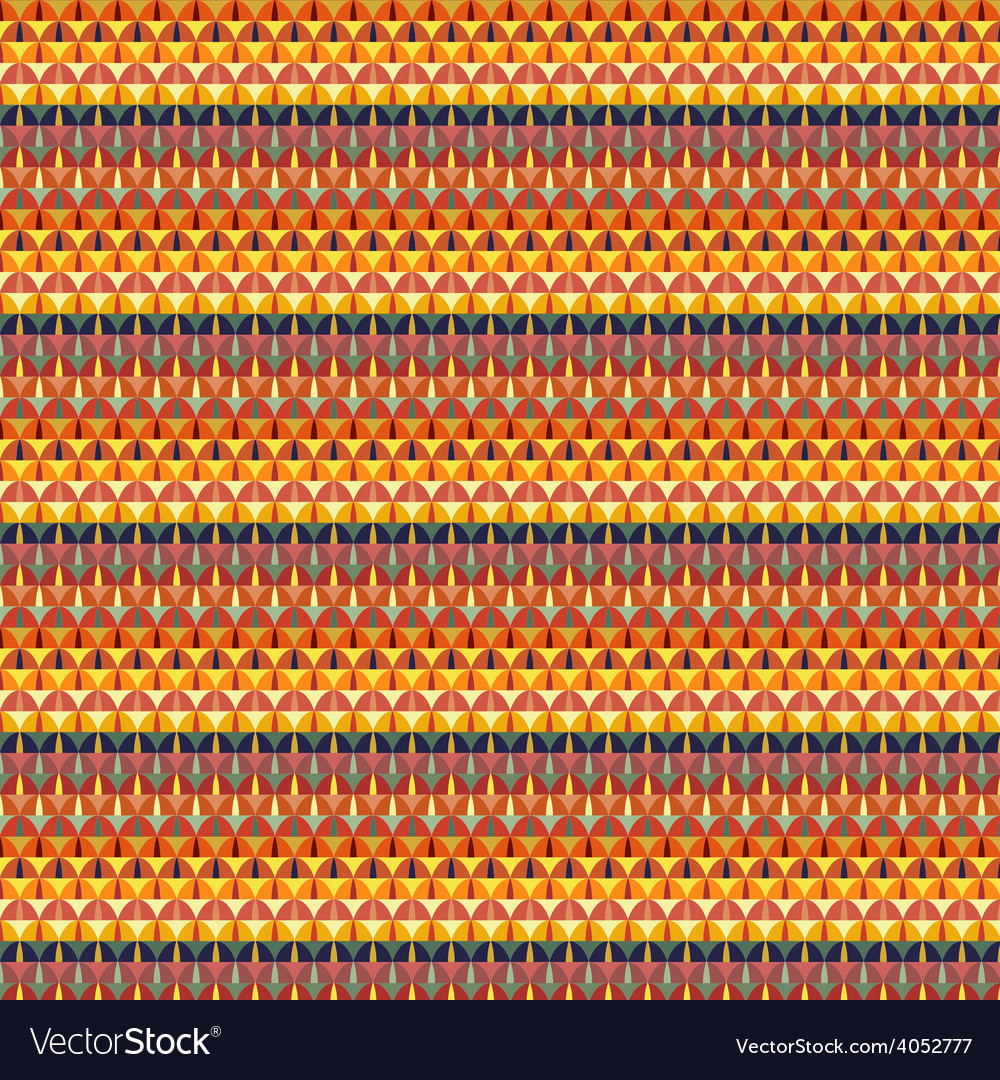 Geometric seamless pattern design vector image